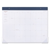 AT-A-GLANCE Collection Monthly Desk Pad, Textured Headband, 22 x 17, White, 2017