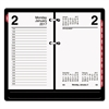 AT-A-GLANCE Desk Calendar Refill with Tabs, 3 1/2 x 6, White, 2017