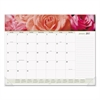 AT-A-GLANCE Floral Panoramic Desk Pad, 22 x 17, Floral, 2017