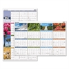 "AT-A-GLANCE ""Seasons in Bloom"" Vertical/Horizontal Erasable Wall Planner, 24 x 36, 2017"