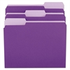 File Folders, 1/3 Cut One-Ply Top Tab, Letter, Violet/Light Violet, 100/Box