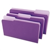 File Folders, 1/3 Cut One-Ply Top Tab, Legal, Violet/Light Violet, 100/Box