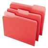 File Folders, 1/3 Cut One-Ply Top Tab, Letter, Red/Light Red, 100/Box