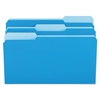 File Folders, 1/3 Cut One-Ply Top Tab, Legal, Blue/Light Blue, 100/Box