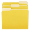 Universal File Folders, 1/3 Cut One-Ply Top Tab, Letter, Yellow/Light Yellow, 100/Box