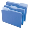 Universal File Folders, 1/3 Cut One-Ply Top Tab, Letter, Blue/Light Blue, 100/Box