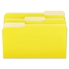 File Folders, 1/3 Cut One-Ply Top Tab, Legal, Yellow/Light Yellow, 100/Box