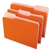 File Folders, 1/3 Cut One-Ply Top Tab, Letter, Orange/Light Orange, 100/Box