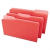 File Folders, 1/3 Cut One-Ply Top Tab, Legal, Red/Light Red, 100/Box