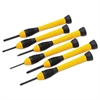6-Piece Precision Screwdriver Set, Black/Yellow