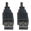 Reversible USB 2.0 Cable, Reversible A to Reversible A M/M, 6 ft