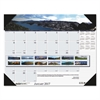 Recycled Mountains of the World Photo Monthly Desk Pad Calendar, 18.5 x 13, 2017