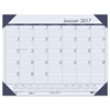 House of Doolittle Recycled EcoTones Ocean Blue Monthly Desk Pad Calendar, 18 1/2 x 13, 2017