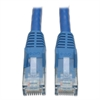 CAT6 Snagless Molded Patch Cable, 10 ft, Blue