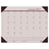Recycled EcoTones Sunrise Rose Monthly Desk Pad Calendar, 22 x 17, 2017