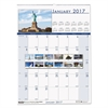 Recycled National Monuments Monthly Wall Calendar, 12 x 16 1/2, 2017