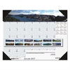 Recycled Mountains of the World Photo Monthly Desk Pad Calendar, 22 x 17, 2017