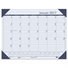 Recycled EcoTones Ocean Blue Monthly Desk Pad Calendar, 22 x 17, 2017