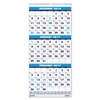 House of Doolittle Recycled Three-Month Format Wall Calendar, 12 1/4 x 26, 14-Month, 2016-2018