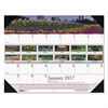 Recycled Gardens of the World Photo Monthly Desk Pad Calendar, 18 1/2 x 13, 2017