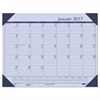 Recycled EcoTones Sunset Orchid Monthly Desk Pad Calendar, 22 x 17, 2017
