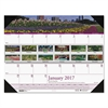 Recycled Gardens of the World Photo Monthly Desk Pad Calendar, 22 x 17, 2017