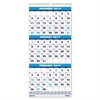 Recycled Three-Month Format Wall Calendar, 8x17, 14-Month (Dec.-Jan.) 2016-2018