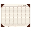 Recycled EcoTones Moonlight Cream Monthly Desk Pad Calendar, 22 x 17, 2017