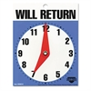 "Cosco Will Return Later Sign, 5"" x 6"", Blue"