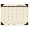 Recycled EcoTones Desert Tan Monthly Desk Pad Calendar, 22 x 17, 2017