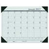 Recycled EcoTones Woodland Green Monthly Desk Pad Calendar, 22 x 17, 2017