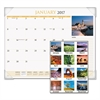 AT-A-GLANCE Scenic Monthly Desk Pad Calendar, 22 x 17, 2017