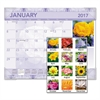 AT-A-GLANCE Antique Floral Monthly Desk Pad Calendar, 22 x 17, Antique Floral, 2017