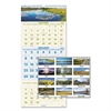 Scenic Three-Month Wall Calendar, 12 x 27, 2016-2018