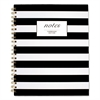 Cambridge Black & White Striped Hardcover Notebook, 11 x 8 7/8, 80 Sheets