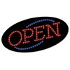 "LED OPEN Sign, 10 1/2: x 20 1/8"", Red & Blue Graphics"