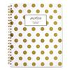 Gold Dots Hardcover Notebook, 11 x 8 7/8, 80 Sheets