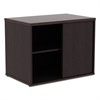 Alera Alera Open Office Low Storage Cab Cred, 29 1/2w x 19 1/8d x 22 7/8h, Espresso