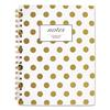 Cambridge Gold Dots Hardcover Notebook, 9 1/2 x 7 1/4, 80 Sheets