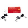 "Medium Binder Clips, 5/8"" Capacity, 1 1/4"" Wide, Black, 12/Box"