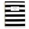 Black & White Striped Hardcover Notebook, 9 1/2 x 7 1/4, 80 Sheets