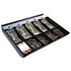Steelmaster Cash Drawer Replacement Tray, Black, ABS Plastic, 12 1/2 x 13 x 2 3/4