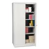 "Tennsco 72"" High Standard Cabinet, 36w x 24d x 72h, Light Gray"