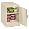 "Tennsco 30"" High Single Door Cabinet, 19w x 24d x 30h, Putty"