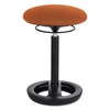 "Safco Twixt Desk Height Ergonomic Stool, 22 1/2"" High, Orange Fabric"