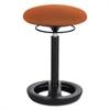 "Twixt Desk Height Ergonomic Stool, 22 1/2"" High, Orange Fabric"