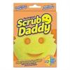 "Scrub Daddy Scratch-Free Scrubbing Sponge, 4 1/8"" Diameter, Yellow, Polymer Foam"