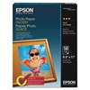 Epson Glossy Photo Paper, 52 lbs, Glossy, 8-1/2 x 11, 100 Sheets/Pack