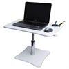 Victor Adjustable Laptop Stand w/Storage Cup, 23 3/4 x 15 1/4 x 12 15 3/4, White/Chrome