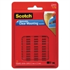 "Scotch Mounting Squares, Precut, Removable, 11/16"" x 11/16"", Clear, 35/Pack"
